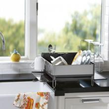 One of the great necessities of life, washing up, needn't be a chore if you use design-led products like a simplehuman drainer or stylish tea towels.