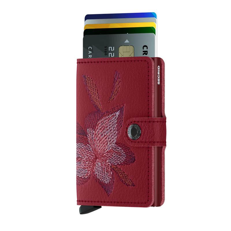 13d64123949 Secrid Miniwallet Stitch Magnolia Rosso