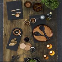 Our ever popular slate table mats and matching coasters from The Just Slate Co are hard wearing and complementary to almost any china put on them. The collection has now expanded to include a whole range of practical and attractive pieces for the table.<br /><br />